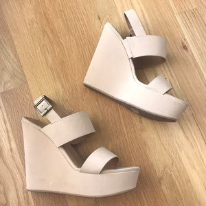 Bamboo Nude Wedges